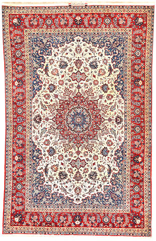An Isphahan carpet South Central Persia size approximately 6ft. 8in. x 10ft. 4in.