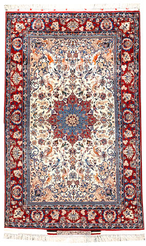 A Isphahan rug  South Central Persia size approximately 3ft. 6in. x 5ft. 8in.