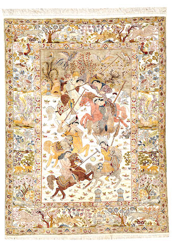 A Kashan rug  Central Persia size approximately 5ft. 5in. x 4ft. 1in.