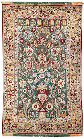 A Kashan rug Central Persia size approximately 4ft. 2in. x 7ft. 3in.