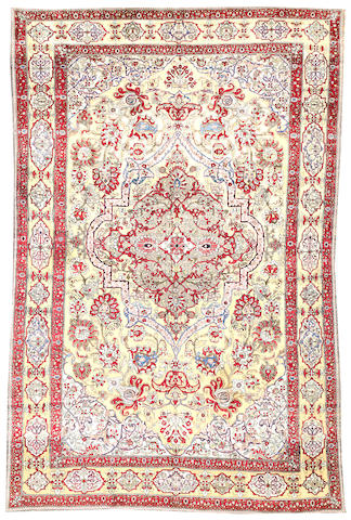 A Souf Kashan carpet Central Persia size approximately 6ft. 9in. x 10ft. 3in.