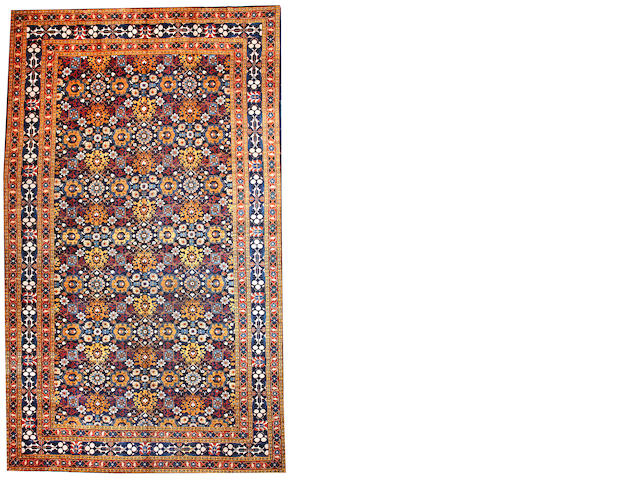 A Heriz carpet  Northwest Persia size approximately 12ft. 2in. x 19ft. 2in.