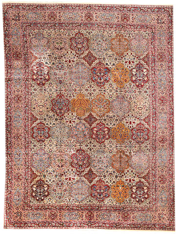 An Indian carpet  India size approximately 10ft. x 12ft. 2in.
