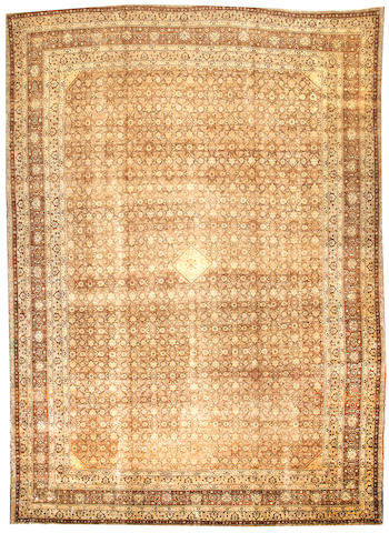 A Tabriz carpet  Northwest Persia size approximately 12ft. x 17ft.