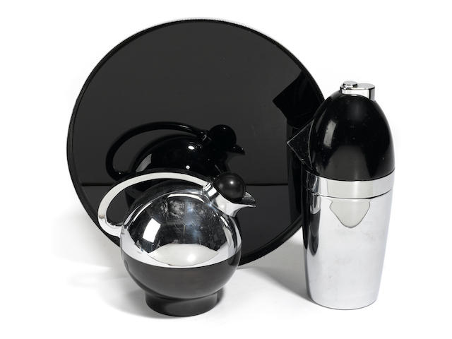 Henry Dreyfuss For The American Thermos Bottle Co. Thermos Pitcher and Tray Model 549, designed 1936