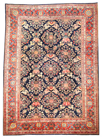 A Sarouk carpet Central Persia size approximately 9ft. x 12ft.