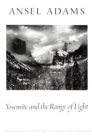 Ansel Adams (American, 1902-1984); Yosemite and the Range of Light (Poster);