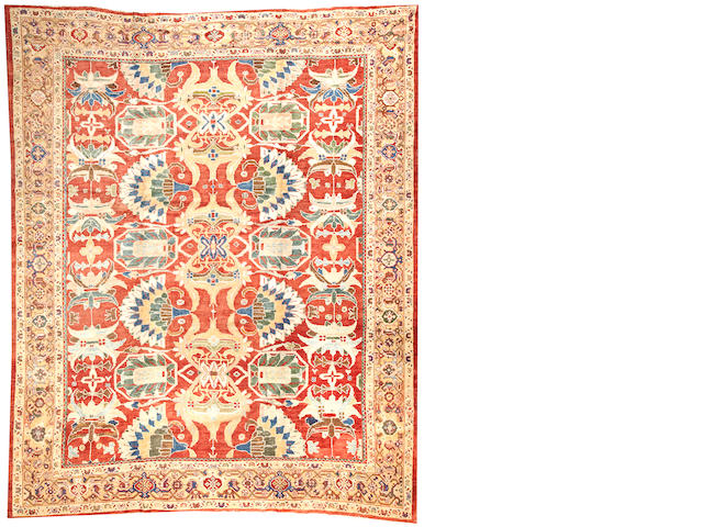 A Sultanabad carpet  Central Persia size approximately 10ft. 1in. x 12ft. 7in.