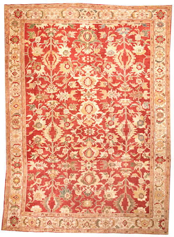A Sultanabad carpet  Central Persia size approximately 10ft. 11in. x 15ft.