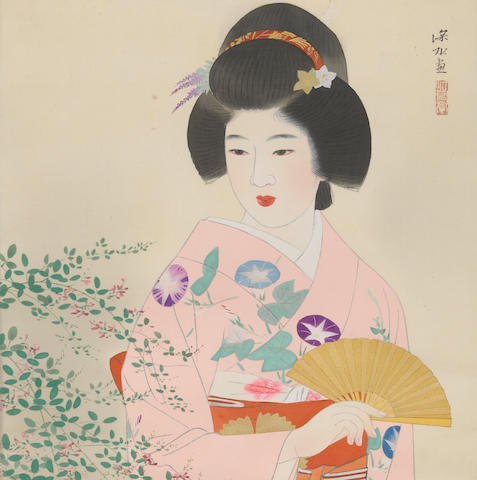Ito Shinsui (1898-1972) Beauty in an Autumn Garden