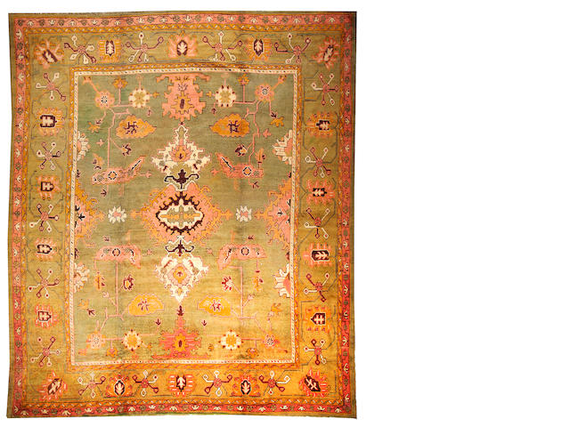 An Oushak carpet Turkey size approximately 11ft. 6in. x 13ft. 6in.