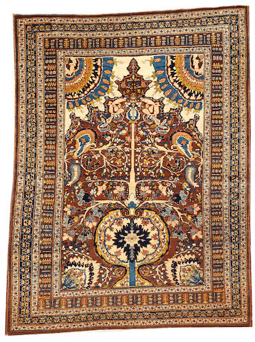 A Hadji Jalili Tabriz rug Northwest Persia size approximately 4ft. 5in. x 5ft. 11in.