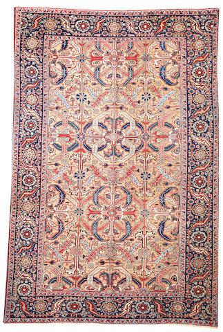 A Heriz carpet Northwest Persia size approximately 6ft. 7in. x 10ft.