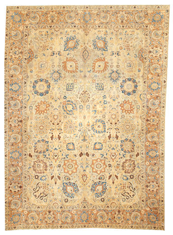 A Tabriz carpet Northwest Persia size approximately 8ft. 1in. x 11ft. 3in.