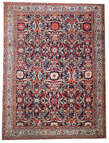 A Mahal carpet  Central Persia size approximately 9ft. 7in. x 12ft. 9in.