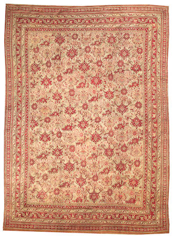An Oushak carpet  West Anatolia size approximately 11ft. 2in. x 15ft. 6in.