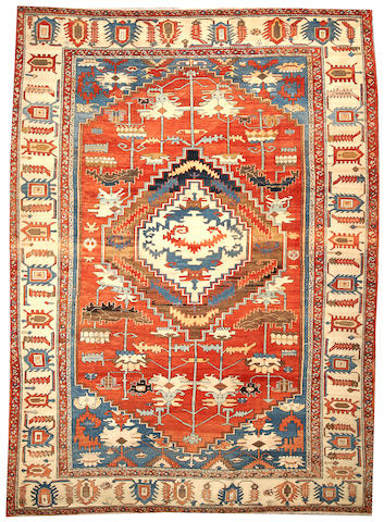 A Serapi carpet  Northwest Persia size approximately 9ft. 5in. x 12ft. 9in.