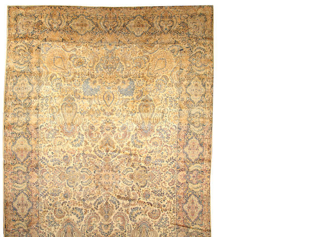 A Kerman carpet  South Central Persia size approximately 12ft. 4in. x 20ft.