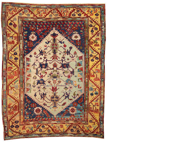 An Oushak rug  West Anatolia size approximately 6ft. x 7ft. 7in.