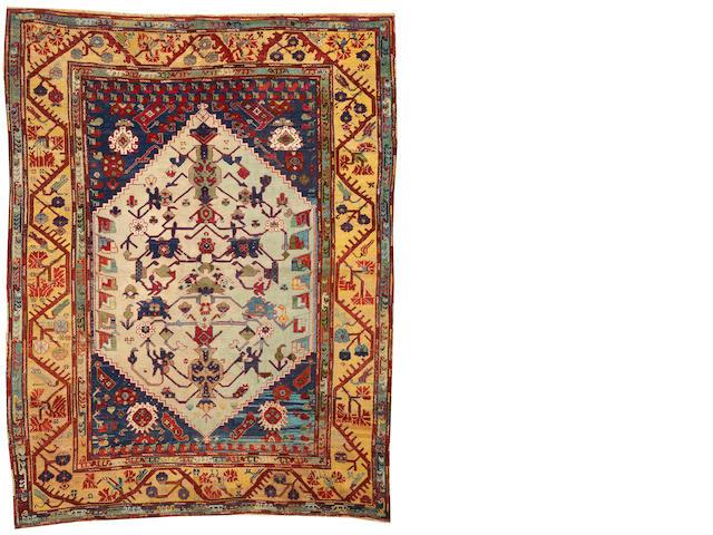 An Oushak rug  West Anatolia size approximately 6ft. x 7ft. 7in.