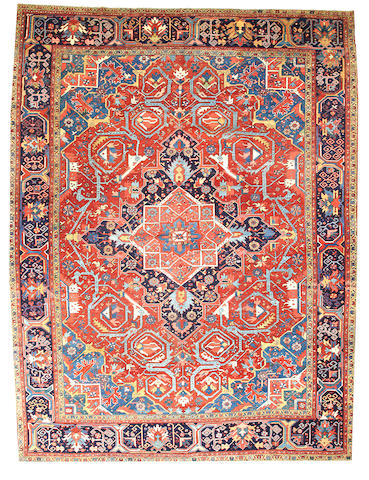 A Heriz carpet Northwest Persia size approximately 12ft. x 16ft.