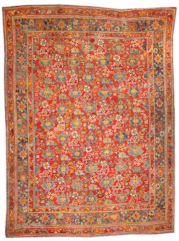 An Oushak carpet  West Anatolia size approximately 10ft. 7in. x 14ft. 8in.