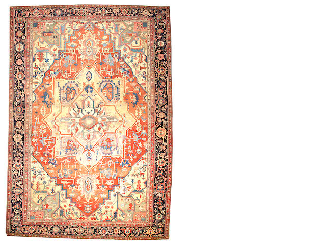 A Serapi carpet  Northwest Persia size approximately 12ft. x 17ft.