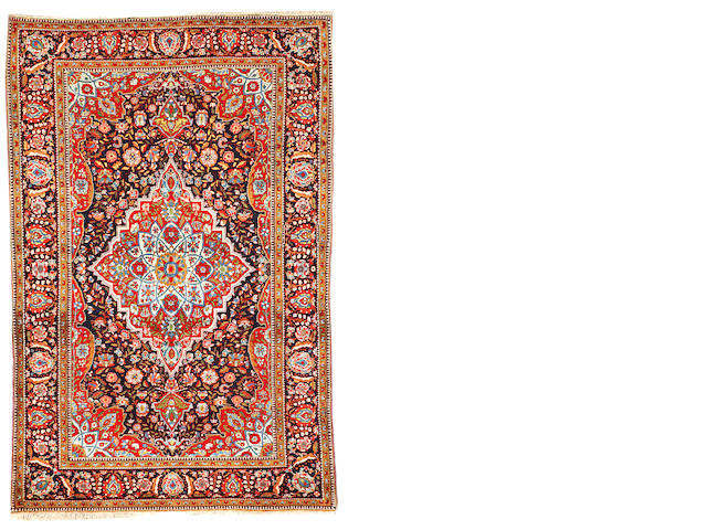 A Mohtasham Kashan rug Central Persia size approximately 4ft. 6in. x 7ft.
