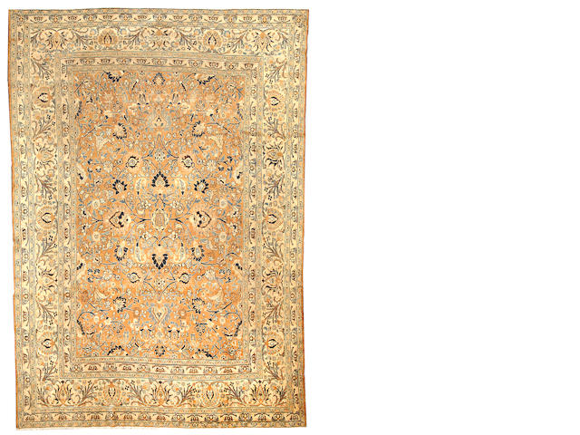 A Tabriz carpet  Northwest Persia size approximately 8ft. 9in. x 12ft.