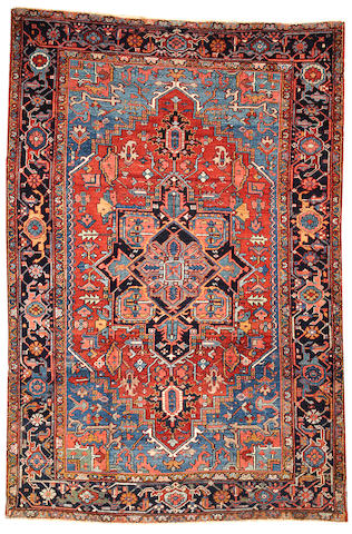 A Heriz rug  Northwest Persia size approximately 6ft. 9in. x 9ft. 10in.