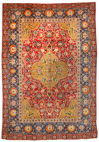 A Tabriz carpet  Northwest Persia size approximately 7ft. 7in. x 11ft.