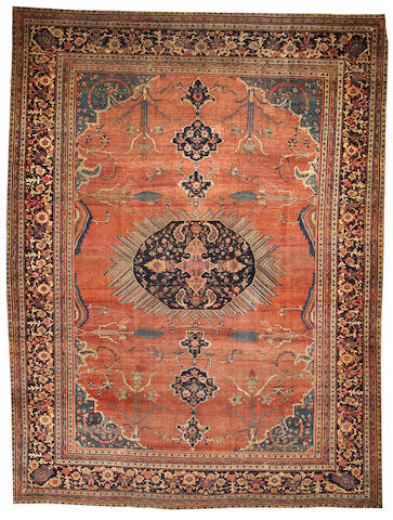 A Fereghan Sarouk carpet  Central Persia size approximately 9ft. 3in. x 12ft. 3in.