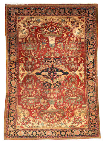 A Malayer rug  Central Persia size approximately 4ft. 3in. x 6ft. 5in.