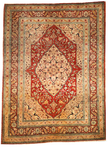 A Tabriz rug  Northwest Persia size approximately 4ft. x 5ft. 5in.