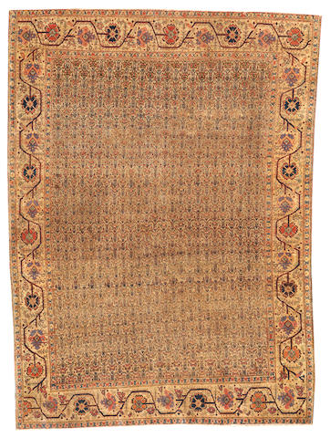 A Tabriz rug  Northwest Persia size approximately 4ft. 2in. x 6ft.