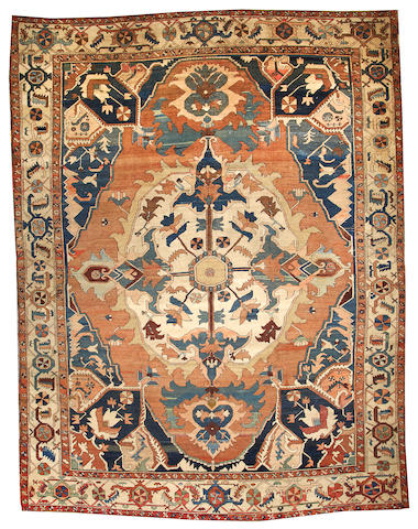 A Serapi carpet  Northwest Persia size approximately 10ft. 9in. x 14ft. 3in.