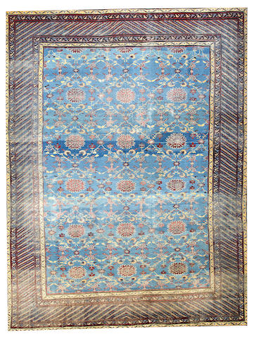 A Samarkand carpet  Turkestan size approximately 11ft. 2in. x 14ft. 7in.