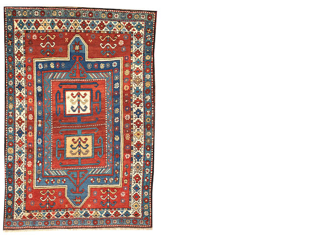 A Kazak rug  Caucasus size approximately 4ft. x 5ft. 9in.