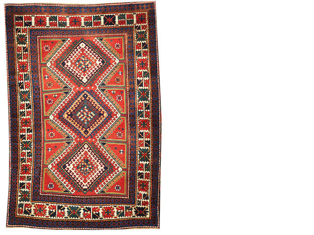 A Kazak rug  Caucasus size approximately 5ft. 2in. x 7ft. 7in.