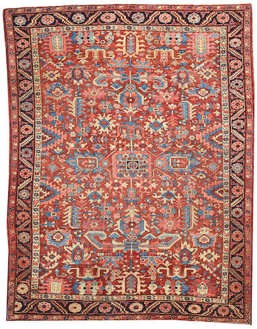 A Heriz carpet Northwest Persia size approximately 9ft. 4in. x 11ft. 10in.