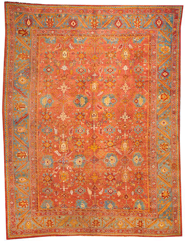 An Oushak carpet West Anatolia size approximately 9ft. 5in. x 12ft. 2in.