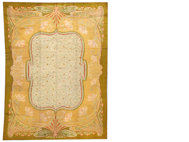 A European carpet  Europe size approximately 8ft. 6in. x 11ft.