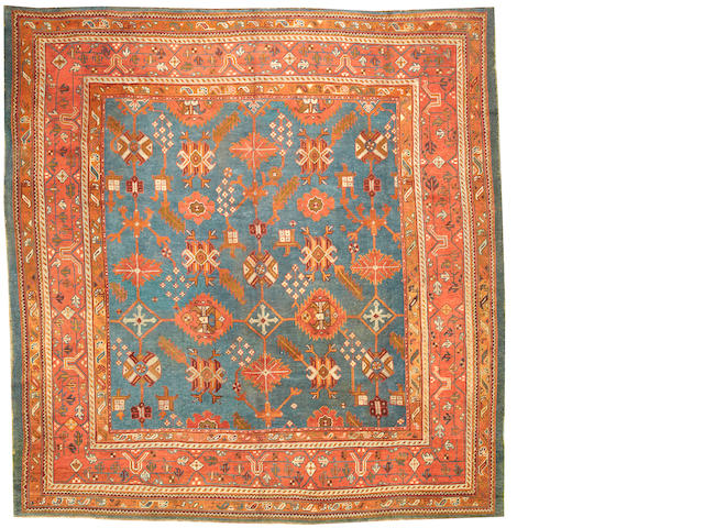 An Oushak carpet  West Anatolia size approximately 11ft. 5in. x 11ft. 11in.