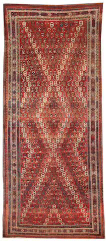 An Afshar long carpet  Southwest Persia size approximately 8ft. x 16ft.