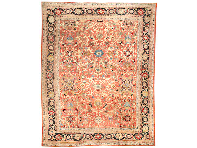 A Sultanabad carpet  Central Persia size approximately 10ft. 1in. x 13ft. 10in.