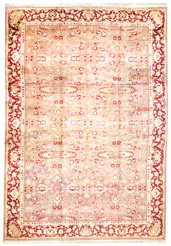 An Agra carpet India size approximately 11ft. 5in. x 16ft. 5in.