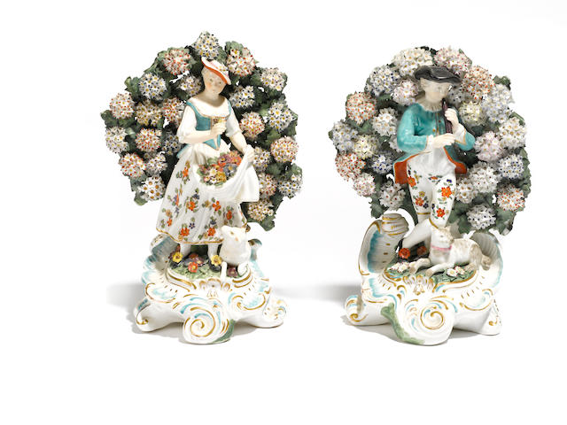 Two Chelsea style porcelain figures
