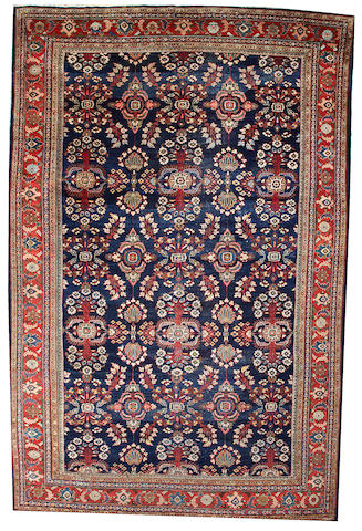A Mahal carpet  Central Persia size approximately 12ft. x 18ft. 5in.