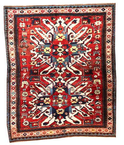 A Kazak rug Caucasus size approximately 4ft. 6in. x 5ft. 5in.