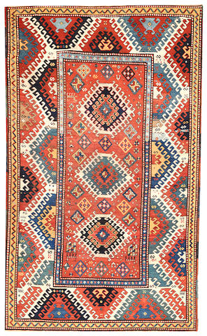 A Kazak rug  Caucasus size approximately 4ft. 8in. x 7ft. 8in.